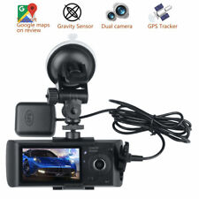 "2.7"" Dual Lens HD Car Vehicle Dashboard DVR Video Camera Recorder GPS G-Sensor"