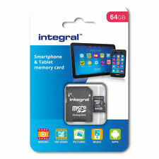 Integral 64GB microSDXC Class 10 UHS-1 Memory Card - Smartphones -Tablet - 90MBs