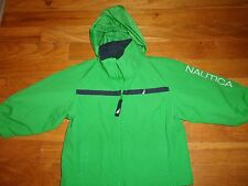 NAUTICA SPRING FALL JACKET SIZE 12 18 MONTH COAT HOODED LINED WIND BREAKER GREEN