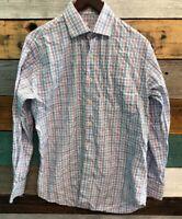 Peter Millar Mens Shirt Size Medium Long Sleeve Plaid Casual Button Down