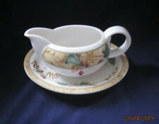 ROYAL DOULTON EDENFIELD EXPRESSIONS FINE CHINA GRAVY  BOAT AND STAND VGC