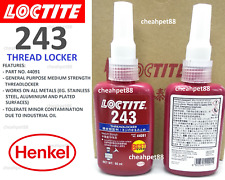 LOCTITE 243 Medium Strength Threadlocker 50ml (New 2017 Packing) - Free Shipping