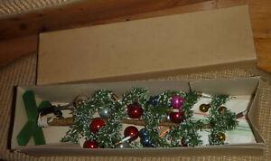 Alter Tannenbaum,Christbaum,Weihnachtsbaum mit Kerzen und Kugeln,Puppenstube OVP