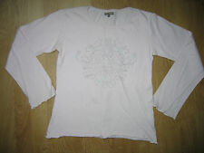 T-shirt rose clair avec motif fille en TBE - 14 ans