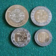 2018 MEXICO BIMETALLIC SET 4 coins 1,2,5 &10 pesos aztec calendar BU 10 lots