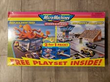 NEW VTG Micro Machines 2 For 1 Pack Deep Sea Drive-Thru & Big Daddy's Drag Strip