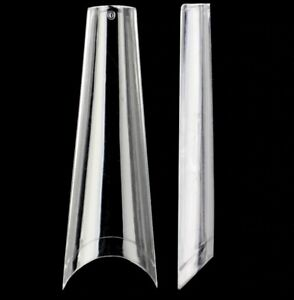 Extra Long Coffin Clear Nail Art Tips Top Quality ABS Gel Acrylic Ballerina