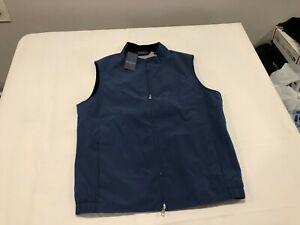 NWT $265.00 Peter Millar Mens Crown Stealth Light Stretch Vest Blue Size MEDIUM