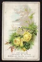 WALTER WOOD MOWING & REAPING MACHINE CO*CHICAGO*HARVESTING*VICTORIAN TRADE CARD