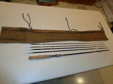 Vintage Japan Bamboo Fishing Rod 5 Piece Fly And Casting Rod Kit, 8'