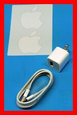 OEM Authentic Apple iPad Air, iPhone  5W Wall Charger Cube + USB wire