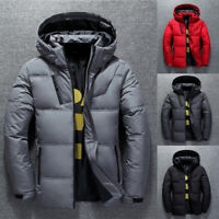 Winter Men's Duck Down Coat Thick Warm Hooded Jacket Parka Outerwear Overcoat
