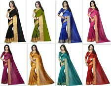 indian Pakistani bollywood designer sari kanjivaram cotton silk fashion saree SC