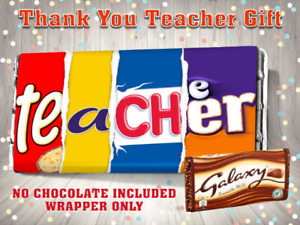 Thank You Teacher Galaxy Chocolate Bar Wrapper End of Term Gift assistant