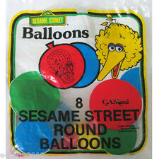 SESAME STREET LATEX BALLOONS (8) ~ Vintage Birthday Party Supplies Big Bird