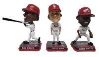 St. Louis Cardinals Lou Brock, Ozzie Smith, Tony La Russa Mini Bobblehead Set