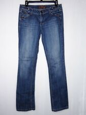 Nissi women's jeans stretchy sz 9 Long Tall Pants Embroider pockets