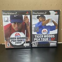 2 Game Lot-Tiger Woods PGA Tour 04 & 07(Sony PlayStation 2) 2007 2004 PS2-Tested