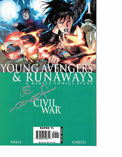 Young Avengers & Runaways #1 signed x2 Jimmy Cheung & John Dell NM