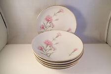 Vintage Royal Court Fine China Japan Carnation Set of 6 Berry Bowls
