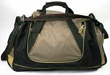 "LEED'S Duffel Gym Bag - Medium/Large 20""x10""x10"" Broken zipper Tab - Still Solid"