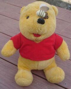 "1994 Mattel & Walt Disney Co. 13"" Plush Winnie The Pooh Bee on Nose Very Good"