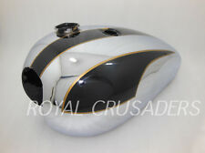 NEW TRIUMPH T140 BLACK PAINTED AND CHROME PLATED PETROL TANK (Reproduction)@PUMM