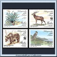 1991 Italia Repubblica Salvaguardia Natura Flora Fauna n. 1975/1978 ** Nuovi
