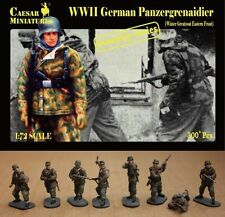 Caesar Miniatures 1/72 7714 WWII German Panzergrenaidier (Winter Greatcoat)