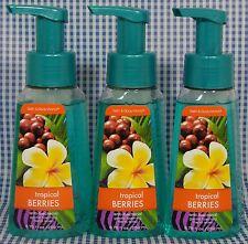 3 Bath & Body Works TROPICAL BERRIES Anti-Bacterial Gentle Foaming Hand Soap