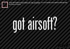 (2) Got Airsoft Sticker Decal gun rifle assault