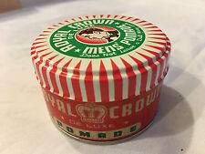 VTG Royal Crown De Luxe Men's Pomade - 29 cent, 1.25 oz, NOS From Case, Full Tin