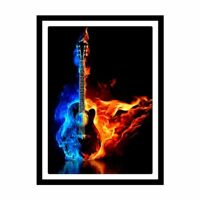 DIY 5D Full Diamond Painting Guitar Embroidery Cross Stitch Craft Kit Home Decor
