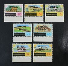 Ckstamps: Gb Stamps Collection St. Kitts Scott#O2a-O10a Mint Nh Og