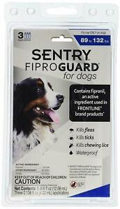 Sentry FiproGuard Dogs 89-132lbs 3 Doses Pack Fipro Guard