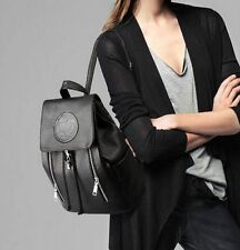 US Women Backpack Travel Black Leather Handbag Rucksack Shoulder School Bag 6FP1