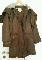 NEU Damen Wintermantel Winter Mantel Jacke ZARA Vintage Dunkelgrün Gr. 38 40 M