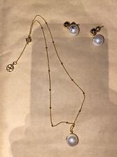 carolina herrera Earrings And Necklace A Costume Jewellery