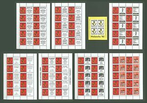 Block J56 Special Sheet 1982 Germany Hannover Philately (8 pcs)