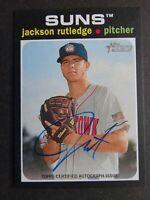 2020 Topps Heritage Minor League Jackson Rutledge Suns Real One Auto Card