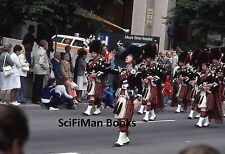 KODACHROME 35mm Slide Parade Men Kilts Bagpipes Mount Sinai Hospital People 1979