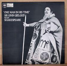 1975 British Import SIR GIELGUD vinyl album READS SHAKESPEARE super clean LP ex+
