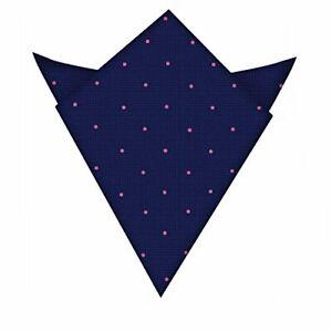 Navy Pink Polka Dot Pocket Square | Wedding Pocket Square | Present for Men |