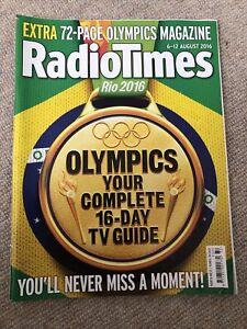 RADIO TIMES 6 AUG 2016 . RIO OLYMPICS ISSUE 72 PAGE OLYMPICS MAGAZINE Not Inc