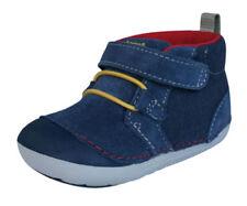 Chaussures bleus unisexe en cuir pour bébé