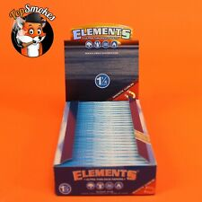 25 Pack 1 Box Elements 1 1/4 (1.25) Rolling Paper Ultra Thin Rice Free Shipping