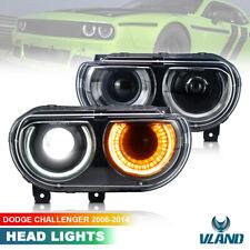 VLAND LED faro per 2008-2014 Dodge Challenger SRT Fari anteriori DRL sequenziale