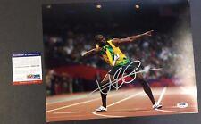 2012 Usain Bolt Autograph Photo Running Summer Olympics London Gold COA Proof