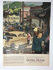 Original Print Ad 1950 GENERAL MOTORS Vintage Artwork Auto Car