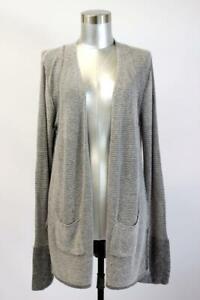 NWT $395 ATM Anthony Thomas Melillo WAFFLE STITCH CARDIGAN Sweater Womens LARGE
